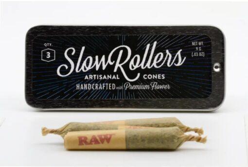 MED Slow Roller 3pk - Arbors Wellness - Green Crack 20.07%